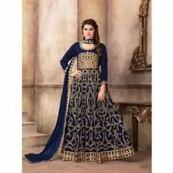 Silk Stitched Embroidered Suit, Dry clean