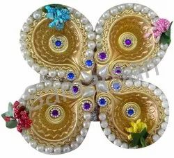 Golden Stone Diya 7092004891411