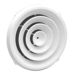 White Powder Coated Round Ceiling Diffuser