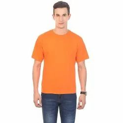 Casual Wear Mens Round Neck Cotton T-Shirt, Size: S-XXXL