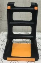 Black Plastic Mobile Stand, For Home And Office, Size: Medium