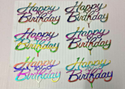 Big Milky Rainbow Colour Cake Tag Topper