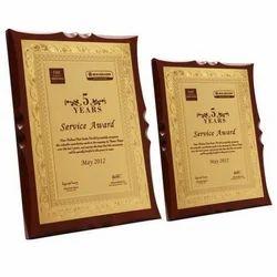Service Wooden Trophy