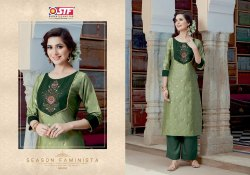 Stf Sanghini Silk Jacquard With Banarasi Silk Top With Bottom