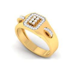 Yellow Gold Unisex Real Diamond Rings