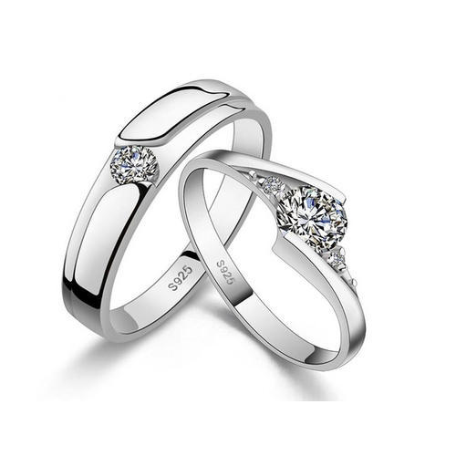 b75e4d58c8d53 Silver Crystal Platinum Plated Couple Rings