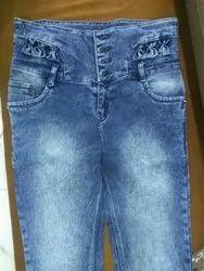 Ladies Broad Belt Jeans