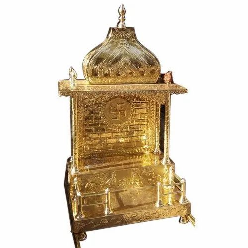 Golden 12 X 18 Inch Brass Home Temple Rs 9000 Piece Dharmik Nagri Id 20731914348