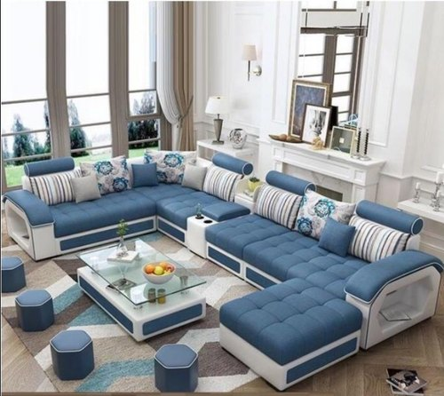 Skf Decor Structur Wood Sectional Sofa, Living Room Sofa Sets