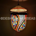 Deshilp Overseas Acc To Standard Stained Glass Hanging Light