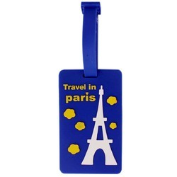 Luggage Tag Travel in Paris - Blue (6LNT61)