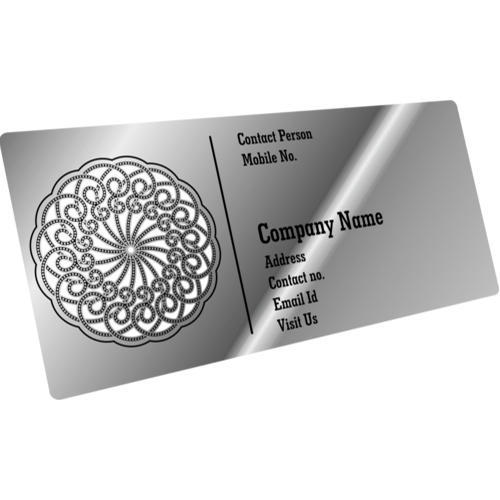 Steel business cards at rs 70 piece business card print cube steel business cards reheart Images