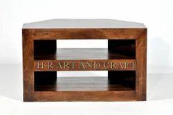 HR Brown Solid Wood TV Cabinet, Walnut