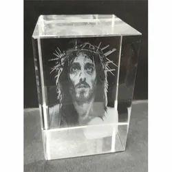 Crystals 3D Jesus Engraved