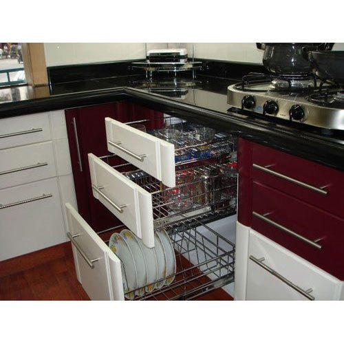 Aluminium Modular Kitchen At Rs 1100 Square Feet: Modular Kitchen Cabinets At Rs 1250 /square Feet