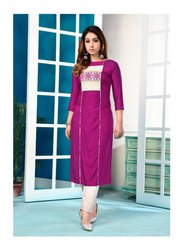 12 Angel Present Kurti with Chicken Work Embroidery Pant