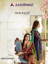 Embroidery Heavy Work Salwar Suit Aashirwad Morbagh Mbroidered