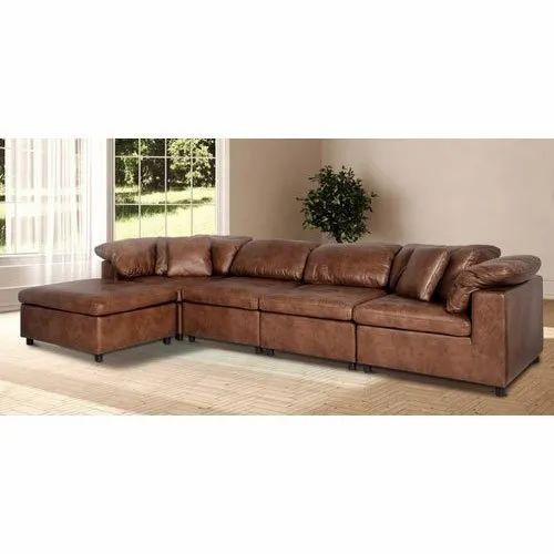Modern L Shape Modular Leather Sofa Set