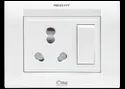 Press Fit - One 3-in-1 6/16 Amp. Switch Socket Combined