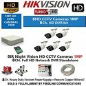 Hikvision Cctv 1mp Ds-7108hghi-f1 8ch Dvr And Ds-2ce16cot-irp Bullet Camera 5pcs Security System