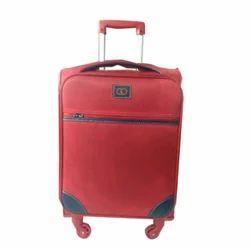 Red Plain Trolly Bag