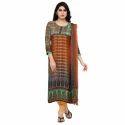 Round Neck Digital Printed Salwar Suit