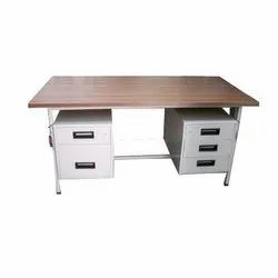 Rectangular Wooden Office Table, for Home, Size: 4-6 Feet