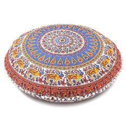 Ottoman Round Cushion Cover