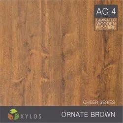 Ornate Brown Laminate Wooden Flooring