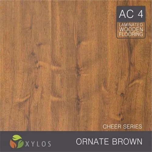 Ornate Brown Laminate Wooden Flooring, Forest View Chocolate 8mm Laminate Flooring