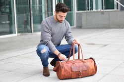 Leather Duffel Bag, Travel Bag, Luggage, Holdall, Carry On, Weekender, Overnight Bags, Leather Bags
