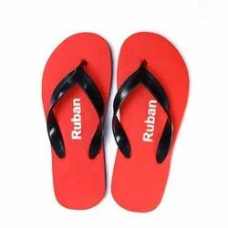 Mens Red Daily Wear Slippers