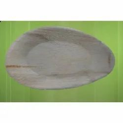 10 Inches Oval Areca/ Plam Leaf Platter Plate