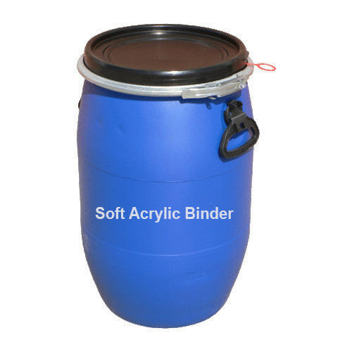 Chemical Grade Ester and Solvents Soft Acrylic Binder, Packaging Type: Barrel