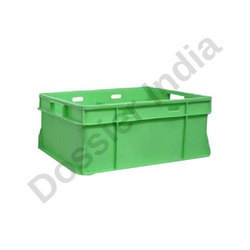 15 Litre Dossier Milk Pouch Crates, Capacity: Green