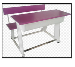 Purple Colour Two Seater Student Desk