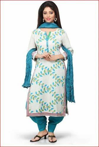 c49f8d7133 off White Cotton Flex Readymade Salwar Kameez, Cotton Salwar Kameez ...