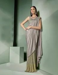 Pr Fashion Launched Beautiful Designer Ready-To-Wear Saree