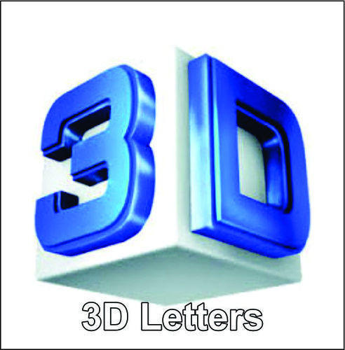 Blue 3D Letter