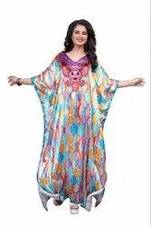 Printed Long Women Kaftan (JK4962)
