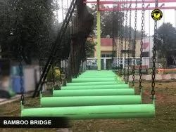 Durable Bamboo Bridge Material: Stainless Iron,Steel and Solid Plastic (Rope Course Element)