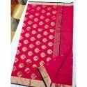 Fancy Traditional Chanderi Silk Saree, Packaging Type: Box