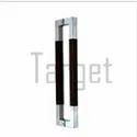 Glass Door Handle- Rectangular D Shape Wood & Stainless Steel Designer Glass Door Handle