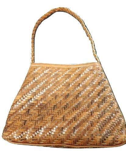 aea0dfdeede8 Mon Exports Brown Weaved Leather Hand Bag
