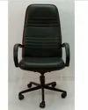 G Ten Rexine High Back Stripe Black Chair
