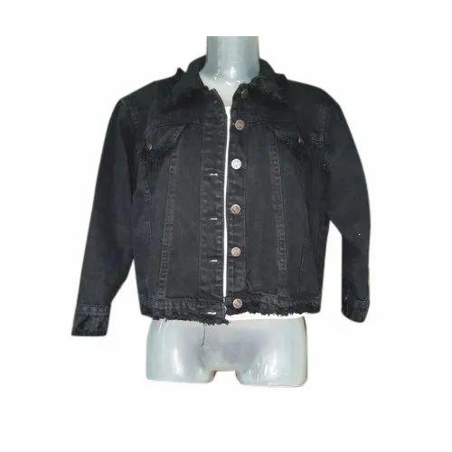 5b9c9e30dae50 Ladies Black Denim Jacket