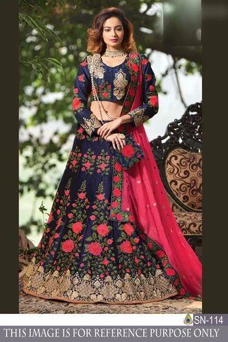 cbadb6ed45 Indian Ethnic Beautiful Designer Bangalori Satin Silk Party Wear ...