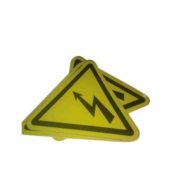 Paper Yellow PVC Sticker Legends