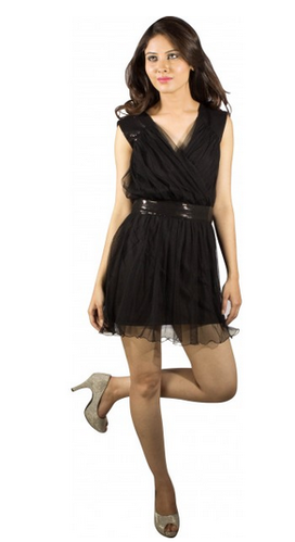 Black Net Short Dress
