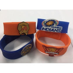 Blue, Orange Silicone IPL Team Wristband, Packaging Type: Opp Bag